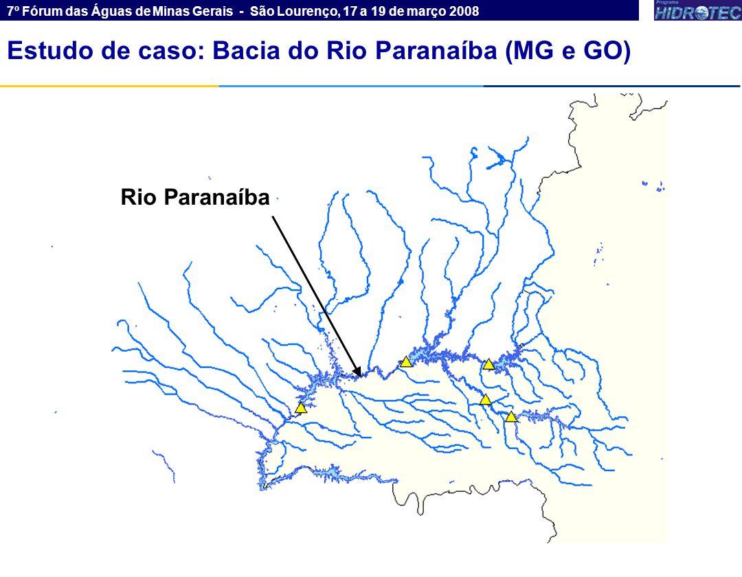 Estudo de caso: Bacia do Rio Paranaíba (MG e GO)