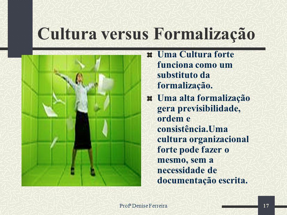Cultura versus Formalização