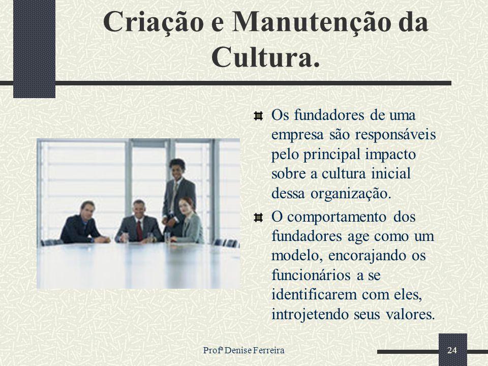 Criação e Manutenção da Cultura.