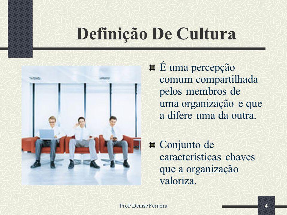 Definição De Cultura É uma percepção comum compartilhada pelos membros de uma organização e que a difere uma da outra.