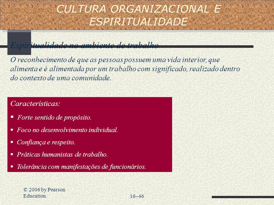 CULTURA ORGANIZACIONAL E ESPIRITUALIDADE
