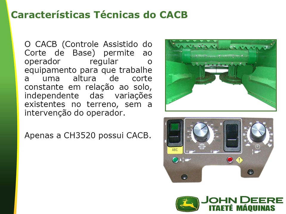 Características Técnicas do CACB
