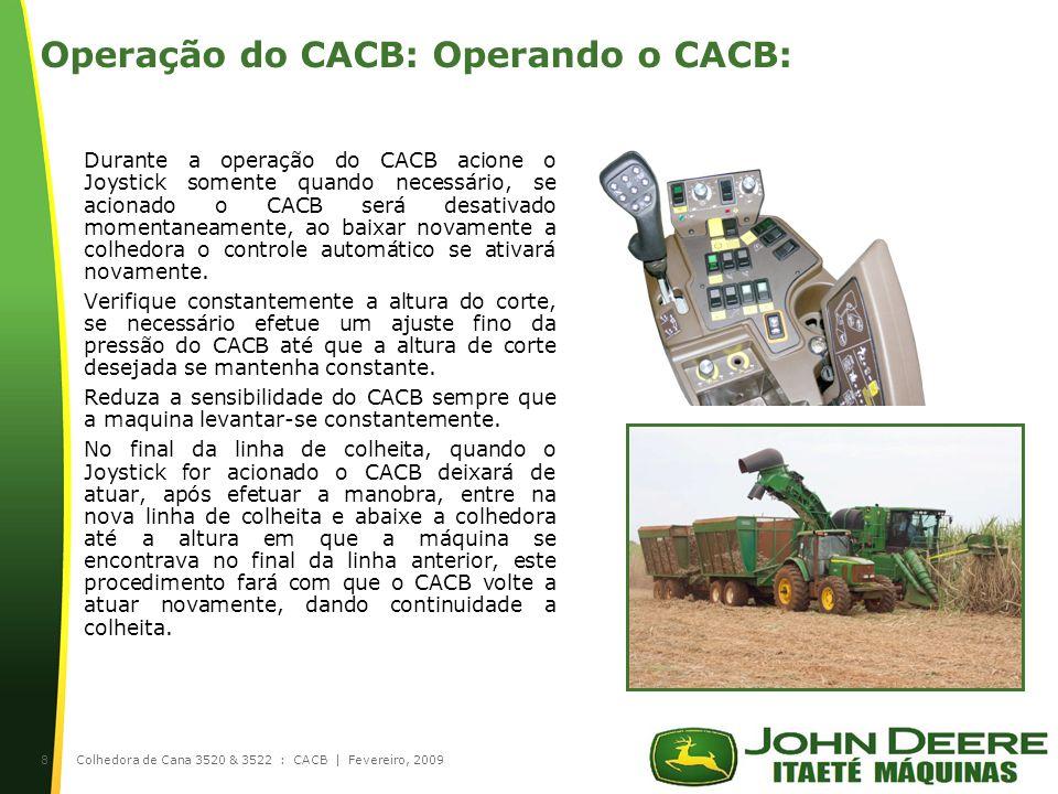 Operação do CACB: Operando o CACB: