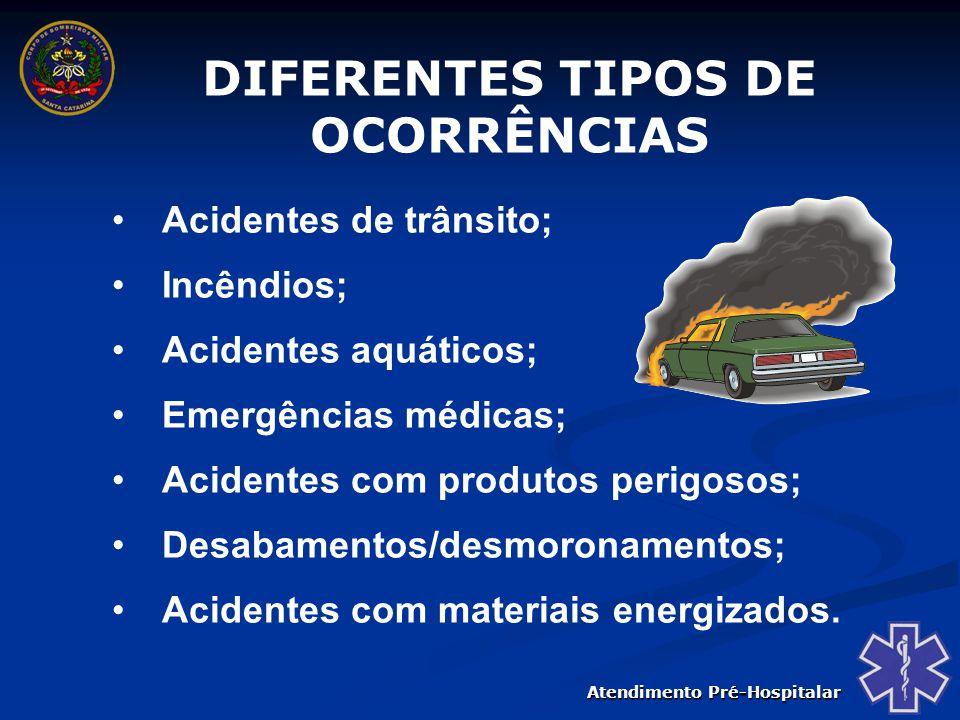 DIFERENTES TIPOS DE OCORRÊNCIAS