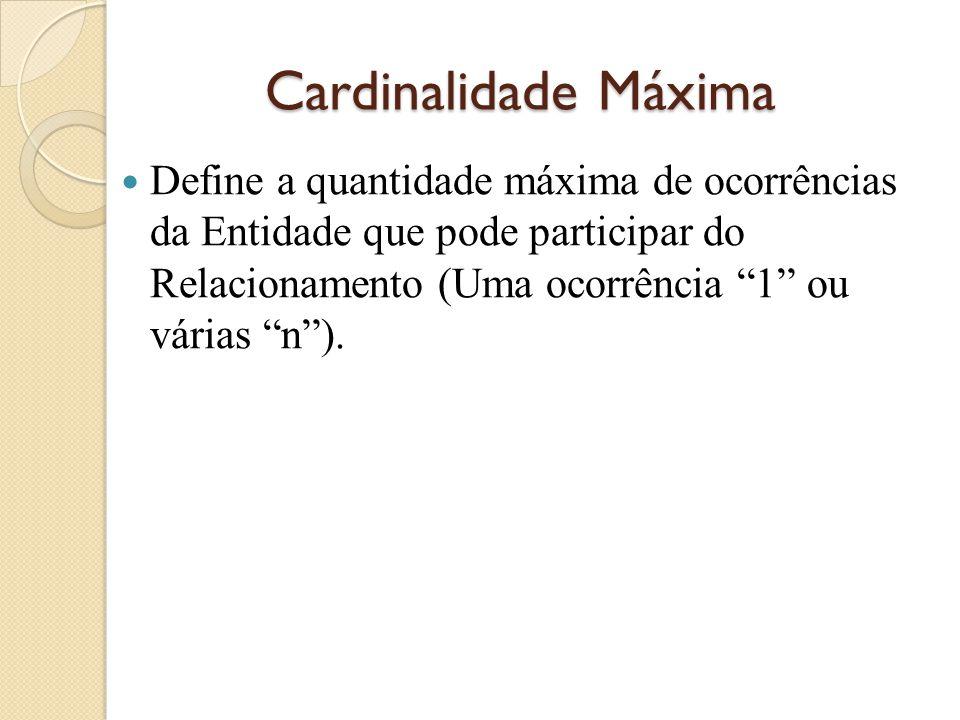 Cardinalidade Máxima