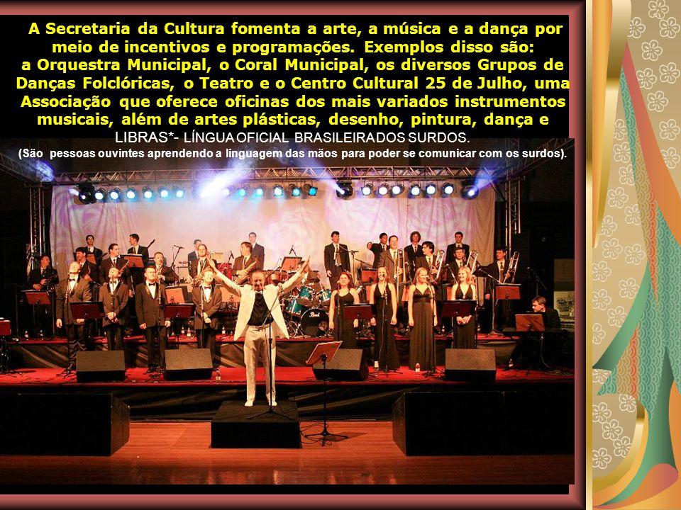 A Secretaria da Cultura fomenta a arte, a música e a dança por meio de incentivos e programações. Exemplos disso são: