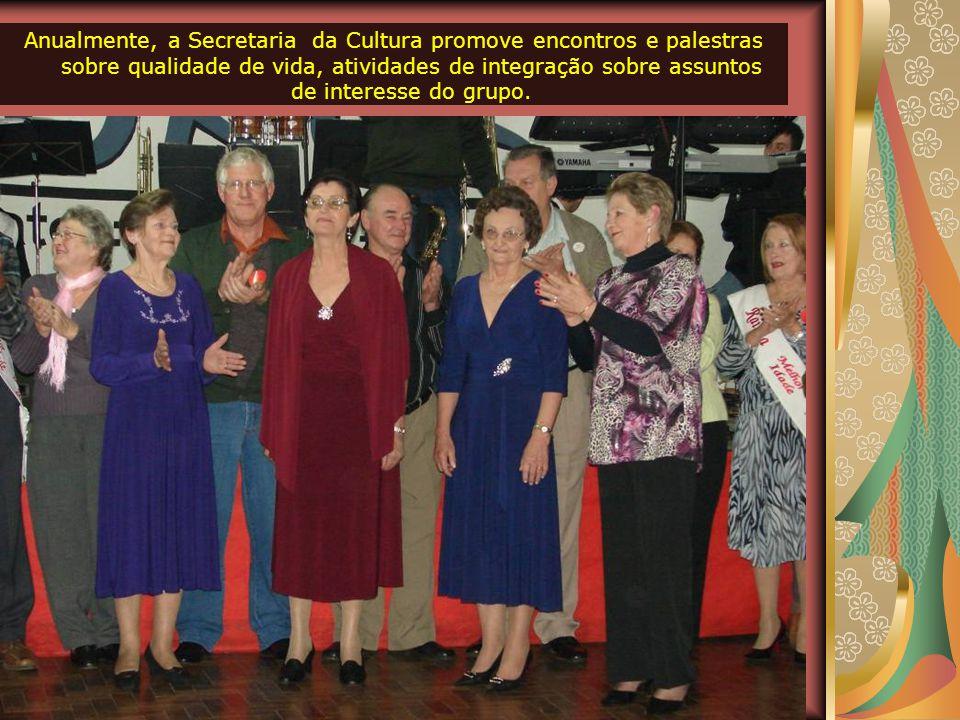Anualmente, a Secretaria da Cultura promove encontros e palestras sobre qualidade de vida, atividades de integração sobre assuntos de interesse do grupo.