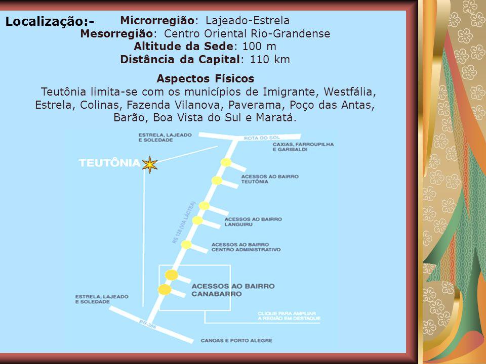 Localização:- Microrregião: Lajeado-Estrela