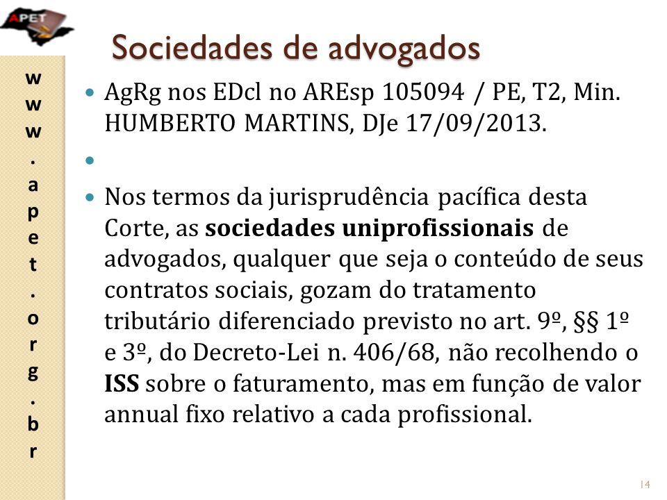 Sociedades de advogados