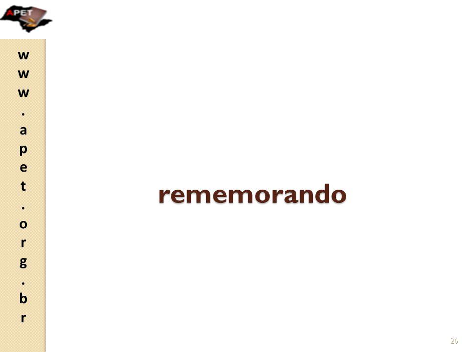 rememorando