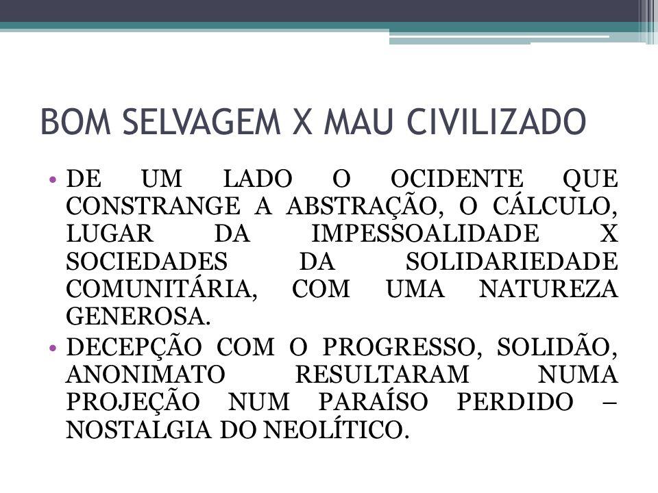 BOM SELVAGEM X MAU CIVILIZADO