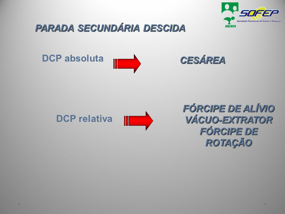 PARADA SECUNDÁRIA DESCIDA