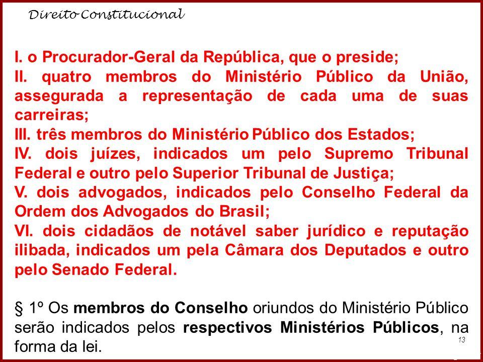 I. o Procurador-Geral da República, que o preside;