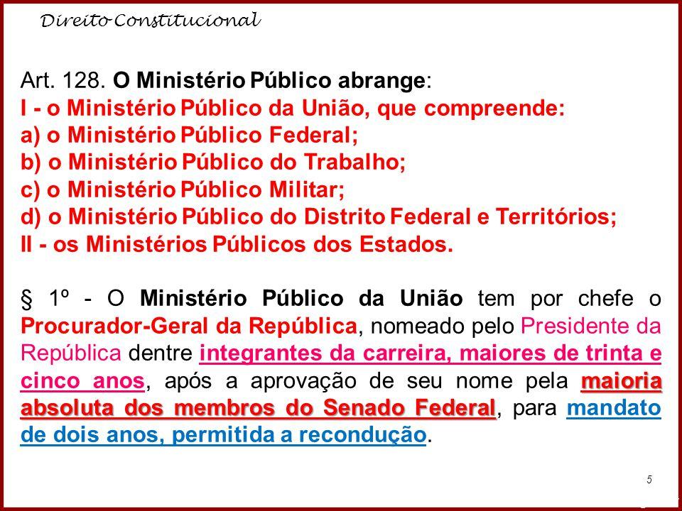 Art. 128. O Ministério Público abrange: