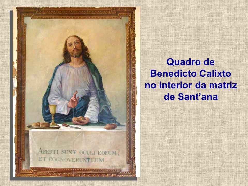 Quadro de Benedicto Calixto no interior da matriz de Sant'ana