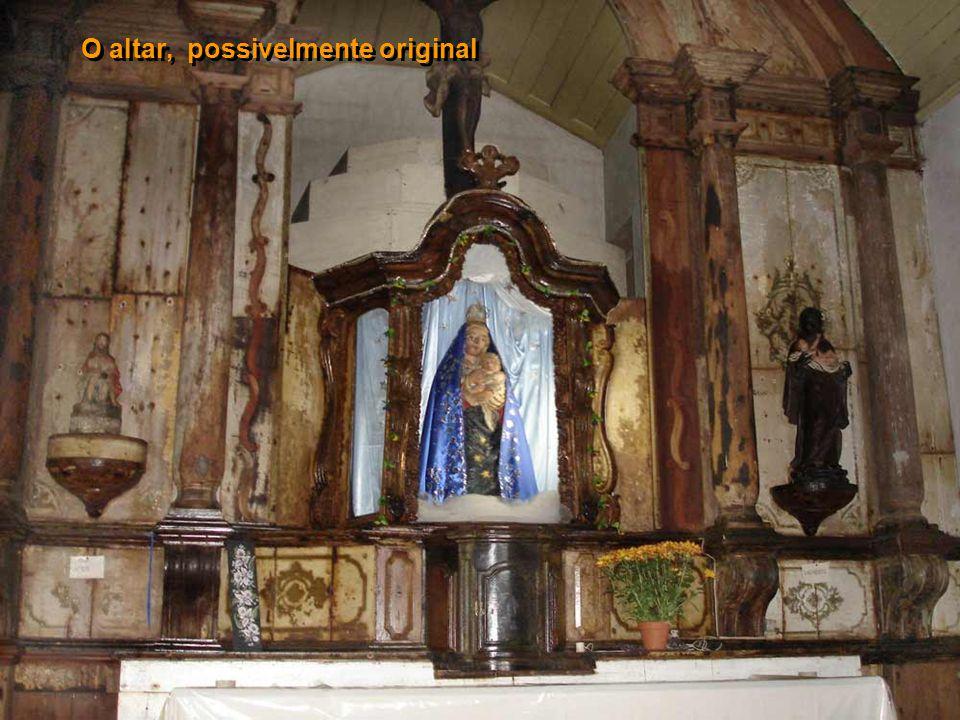 O altar, possivelmente original