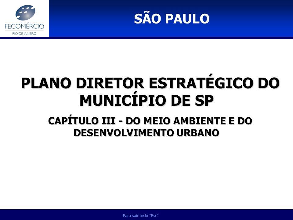 PLANO DIRETOR ESTRATÉGICO DO MUNICÍPIO DE SP