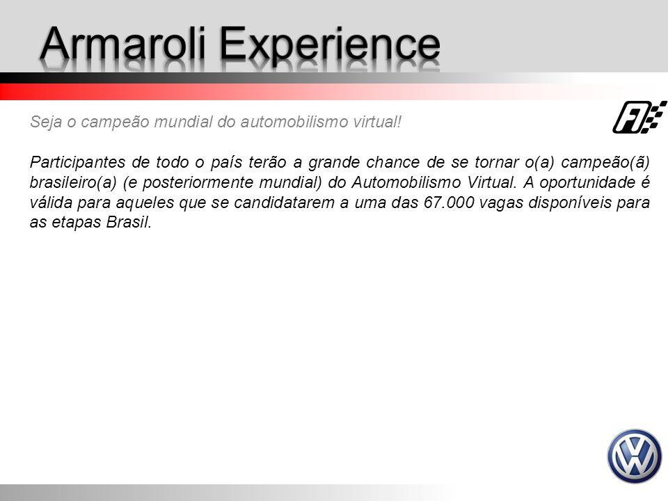 Armaroli Experience Seja o campeão mundial do automobilismo virtual!