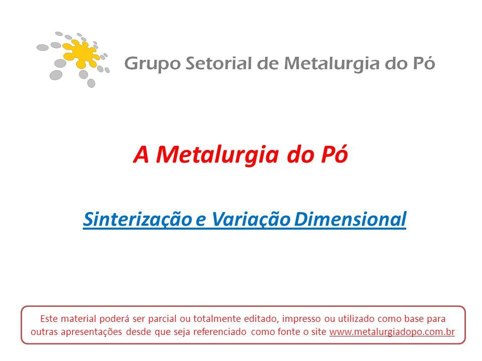 Sinterização e Variação Dimensional