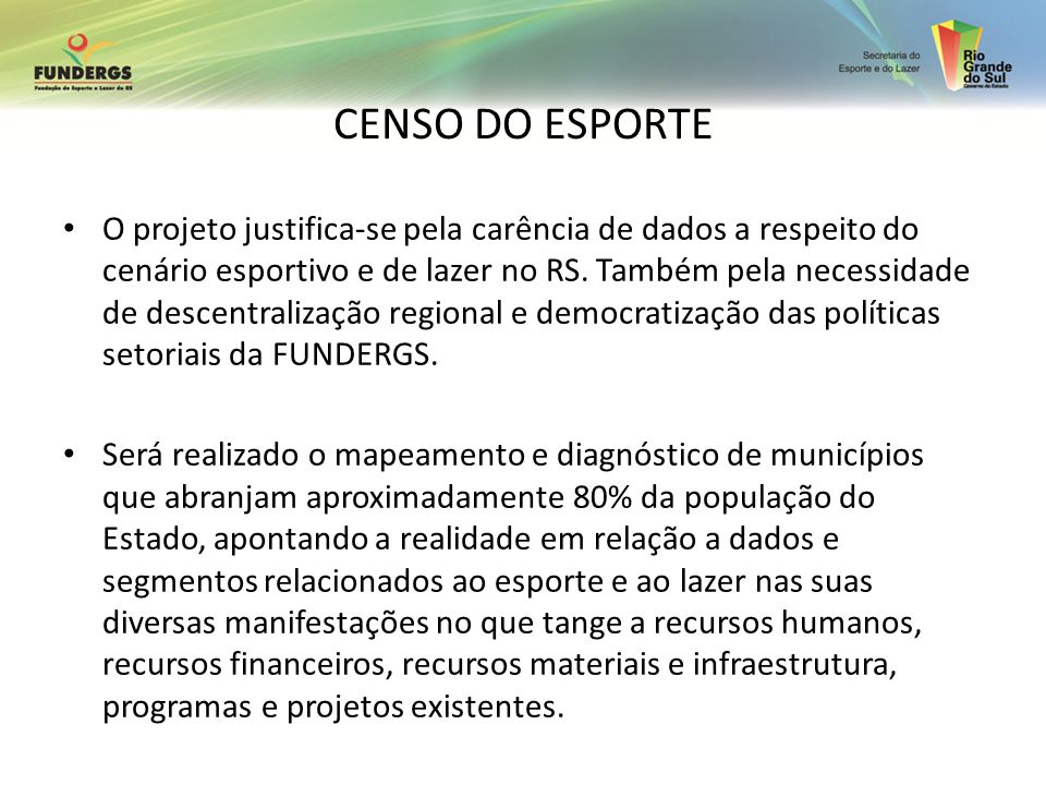 CENSO DO ESPORTE