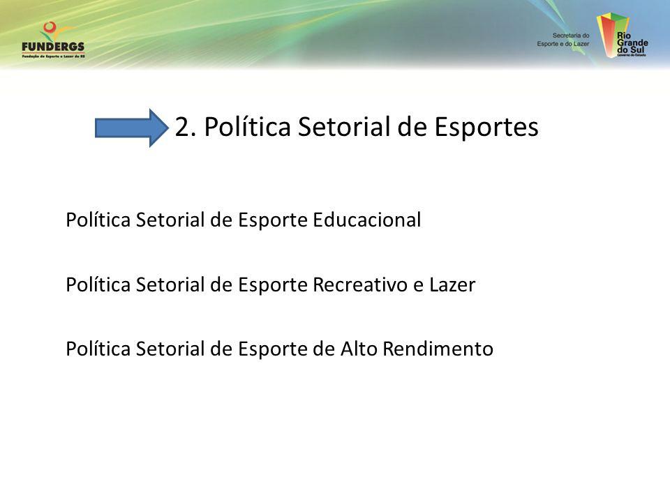 2. Política Setorial de Esportes