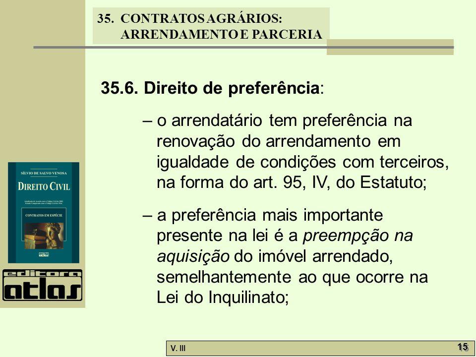 35.6. Direito de preferência: