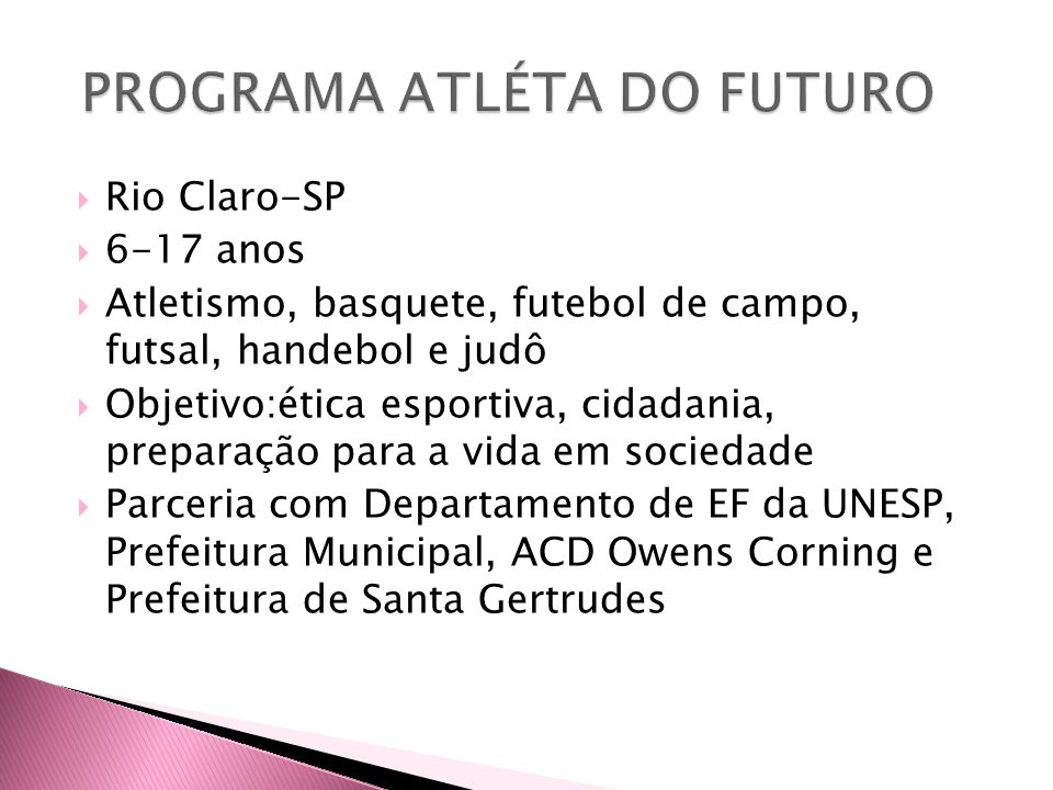 PROGRAMA ATLÉTA DO FUTURO