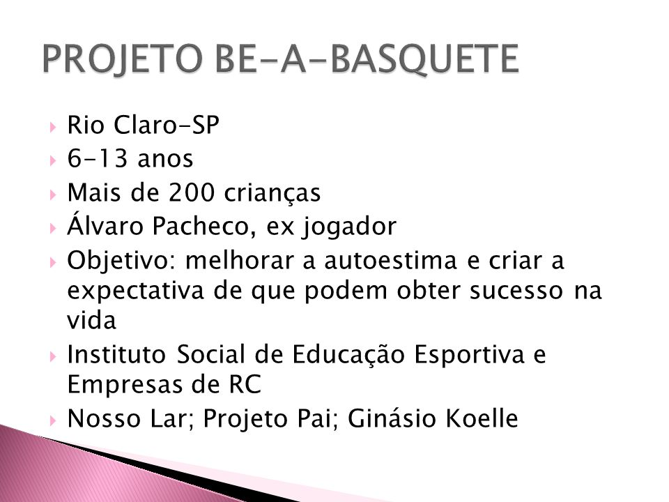 PROJETO BE-A-BASQUETE