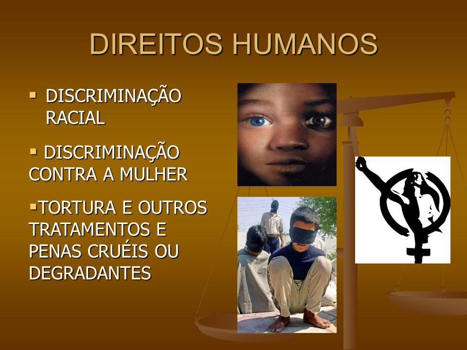 DIREITOS HUMANOS DISCRIMINAÇÃO RACIAL DISCRIMINAÇÃO CONTRA A MULHER