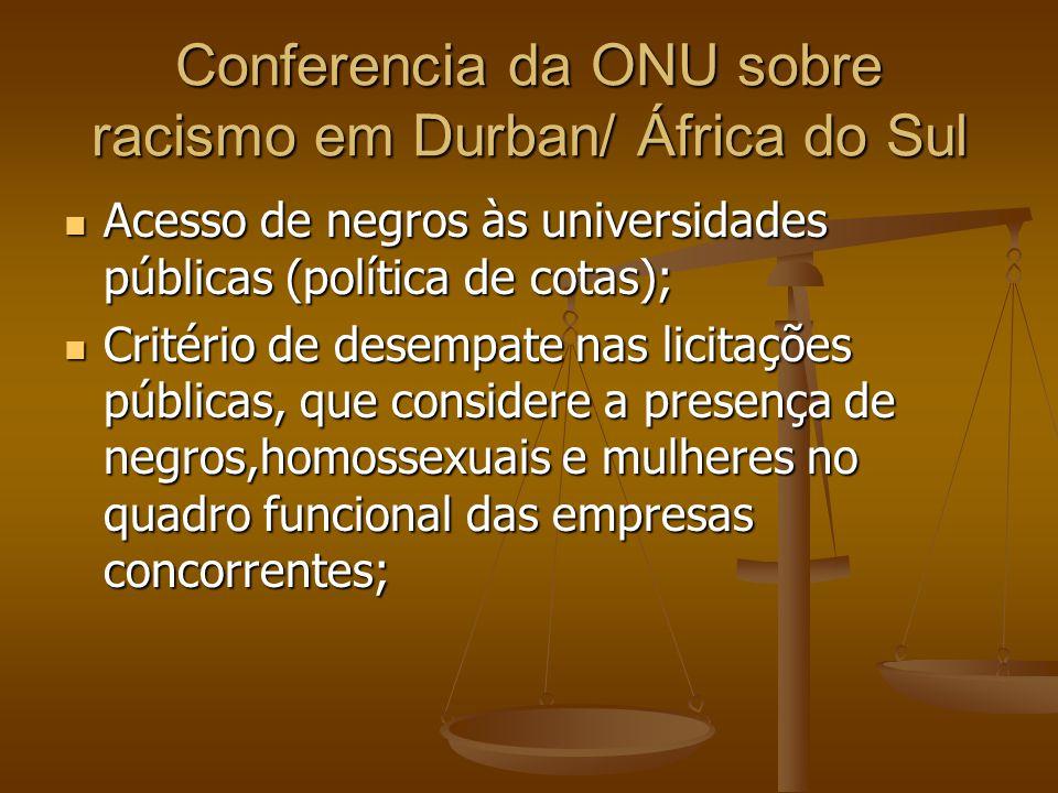 Conferencia da ONU sobre racismo em Durban/ África do Sul
