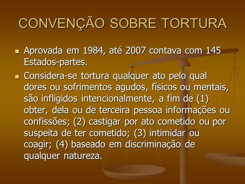 CONVENÇÃO SOBRE TORTURA