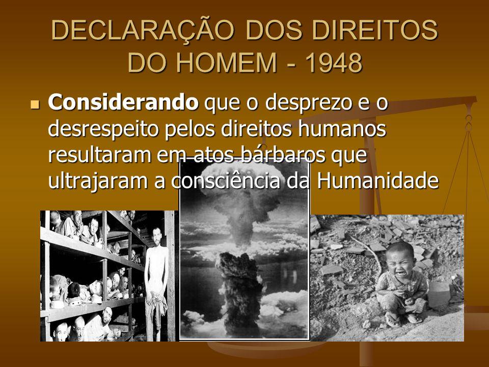DECLARAÇÃO DOS DIREITOS DO HOMEM - 1948