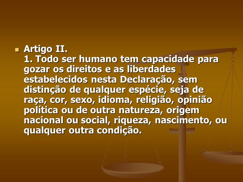 Artigo II. 1.