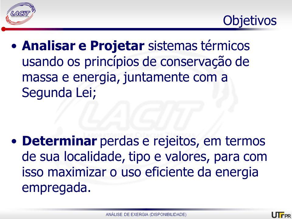 Objetivos Analisar e Projetar sistemas térmicos usando os princípios de conservação de massa e energia, juntamente com a Segunda Lei;
