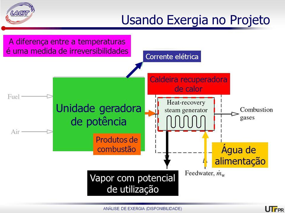 Usando Exergia no Projeto