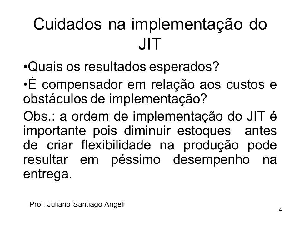 Cuidados na implementação do JIT