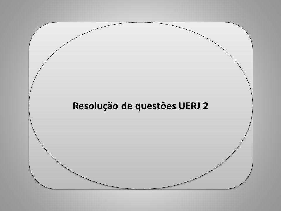 Resolução de questões UERJ 2 Professor Ulisses Mauro Lima