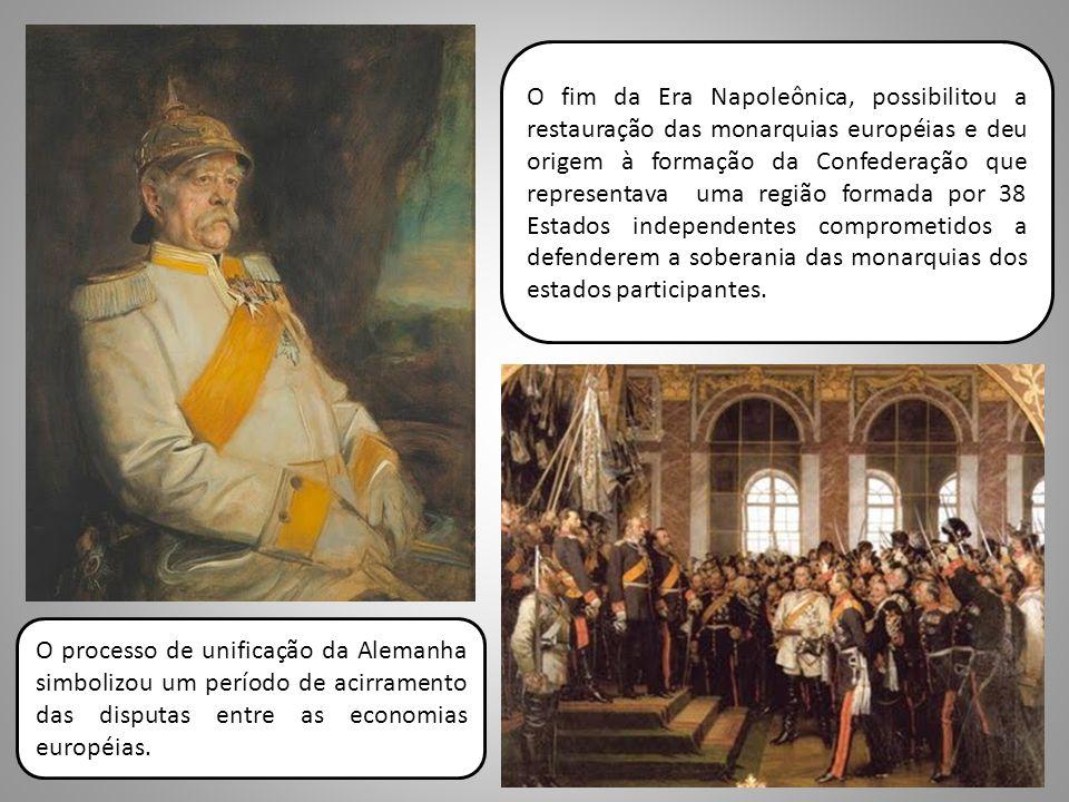O fim da Era Napoleônica, possibilitou a restauração das monarquias européias e deu origem à formação da Confederação que representava uma região formada por 38 Estados independentes comprometidos a defenderem a soberania das monarquias dos estados participantes.