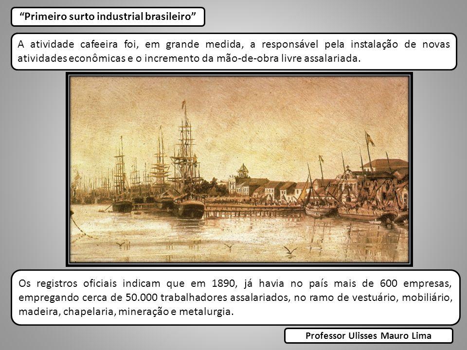 Primeiro surto industrial brasileiro Professor Ulisses Mauro Lima