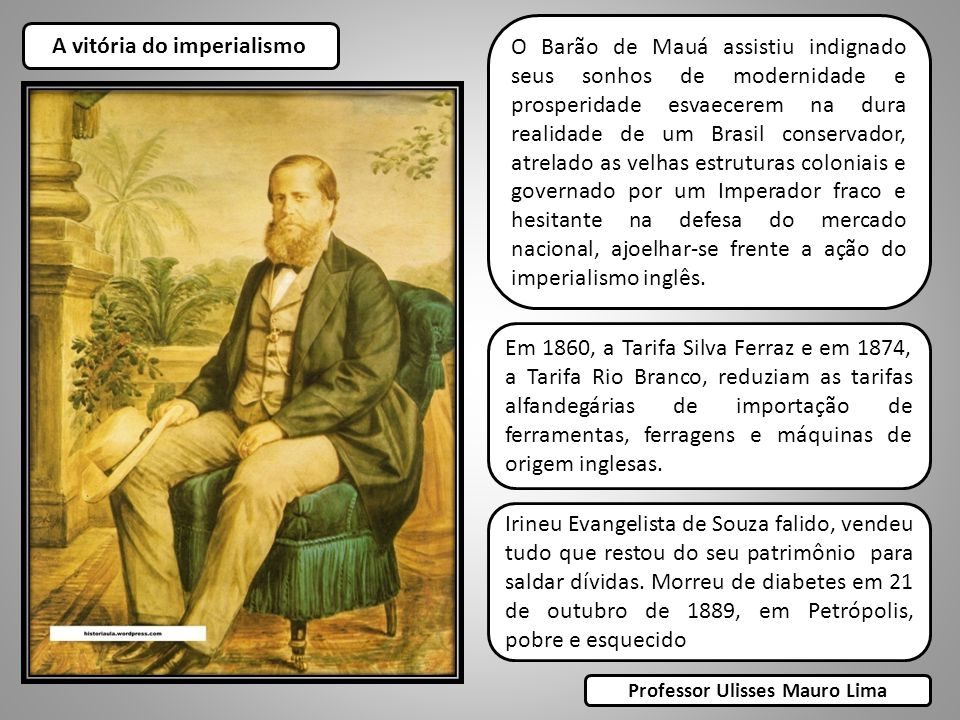 A vitória do imperialismo Professor Ulisses Mauro Lima