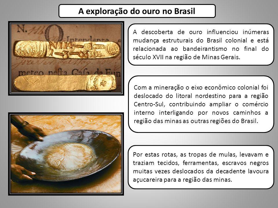 A exploração do ouro no Brasil