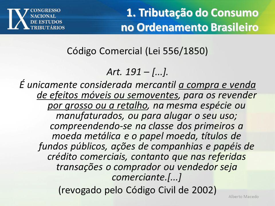 1. Tributação do Consumo no Ordenamento Brasileiro