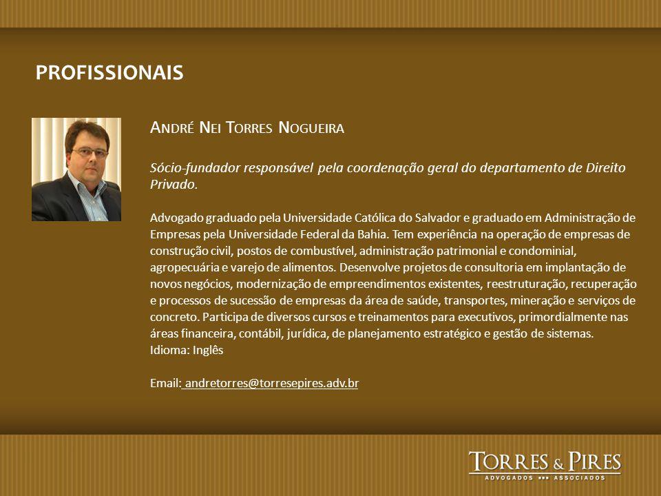 PROFISSIONAIS André Nei Torres Nogueira