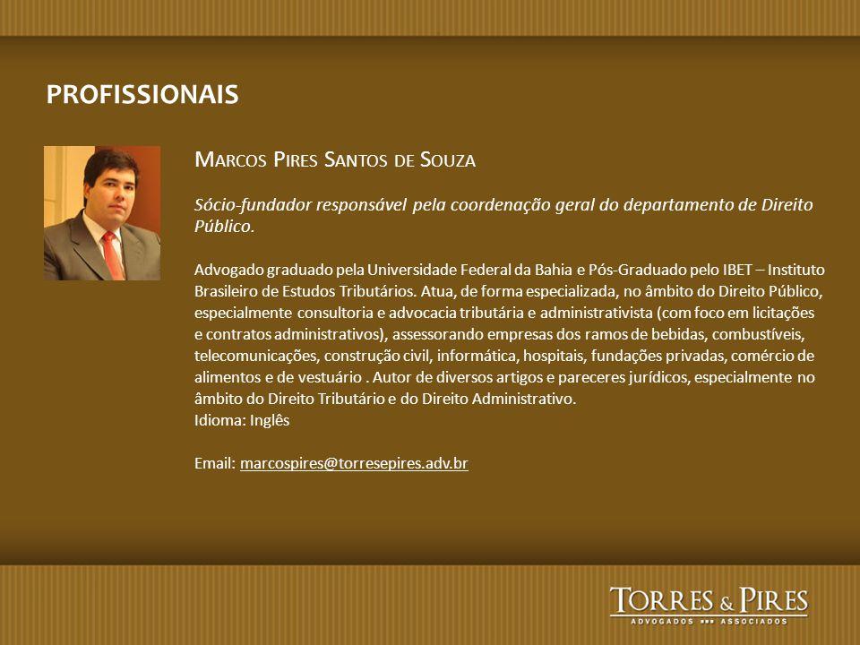 PROFISSIONAIS Marcos Pires Santos de Souza