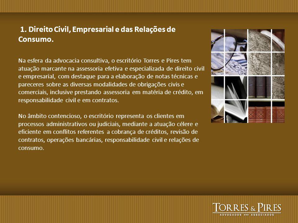 1. Direito Civil, Empresarial e das Relações de Consumo.