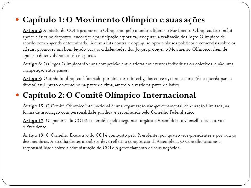 Capítulo 1: O Movimento Olímpico e suas ações