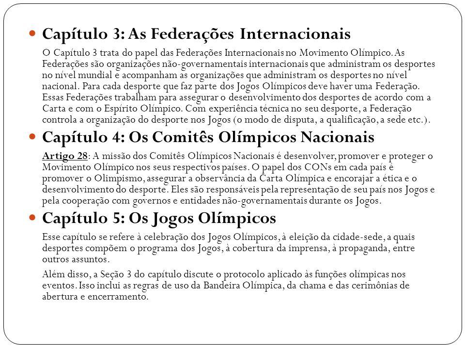 Capítulo 3: As Federações Internacionais