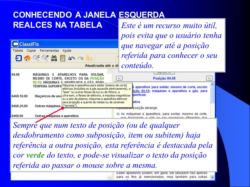 CONHECENDO A JANELA ESQUERDA REALCES NA TABELA