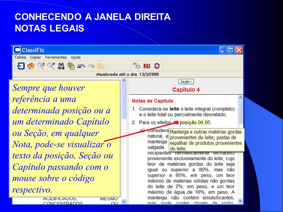 CONHECENDO A JANELA DIREITA NOTAS LEGAIS