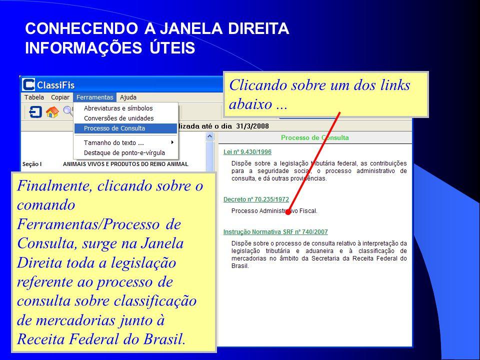 CONHECENDO A JANELA DIREITA INFORMAÇÕES ÚTEIS